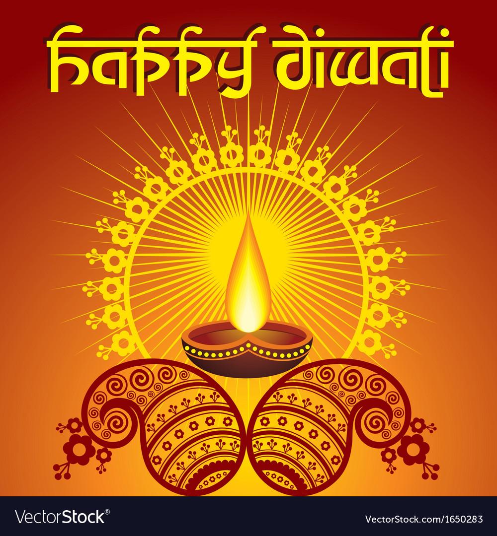 Diwali Greeting Background Royalty Free Vector Image