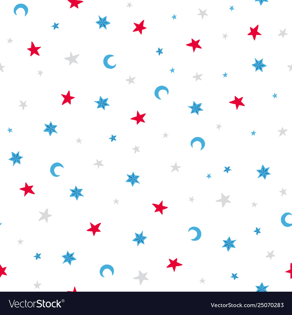 Doodles seamless pattern with stars