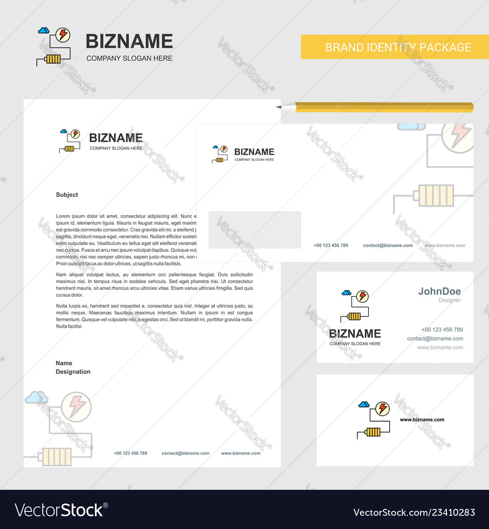 Energy business letterhead envelope and visiting