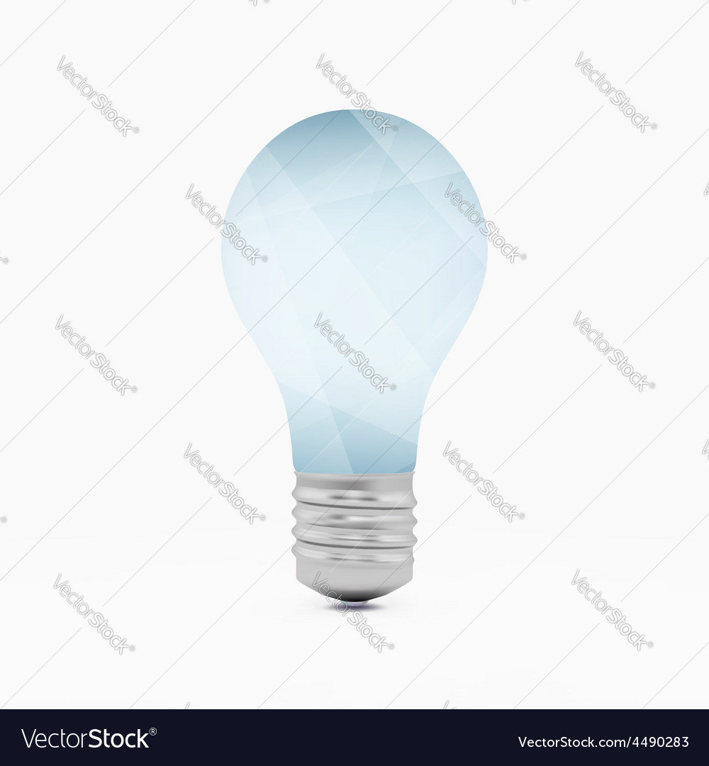 Lightbulb idea symbol 3d