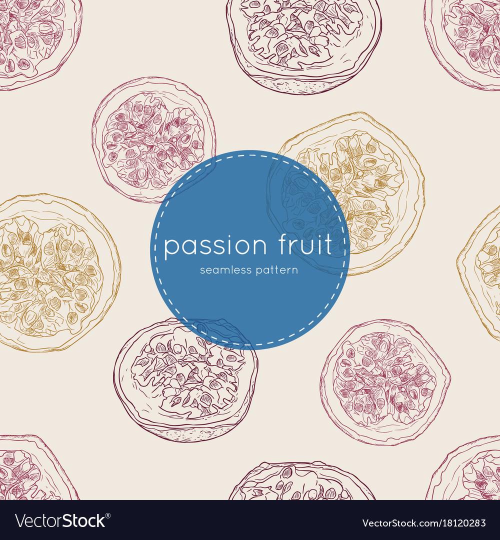 Passion fruit seamless pattertn