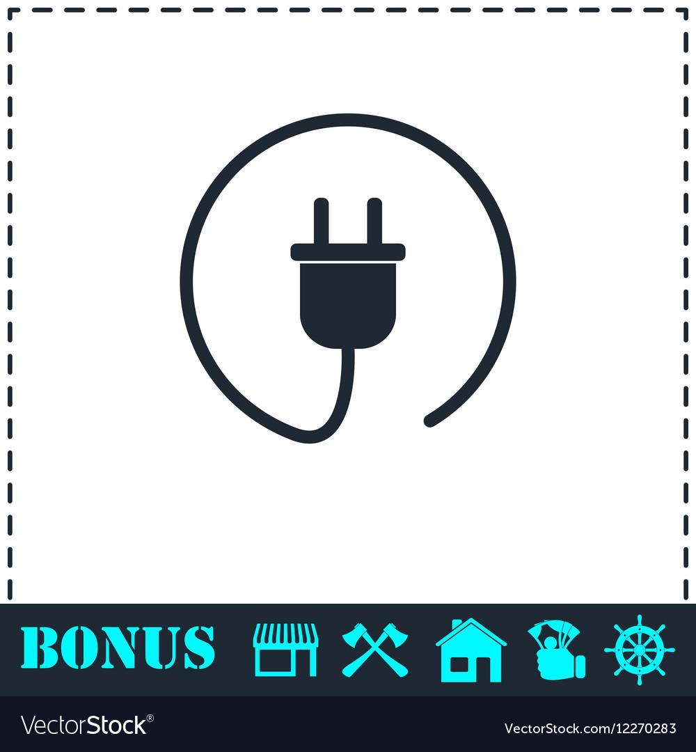 Plug icon flat