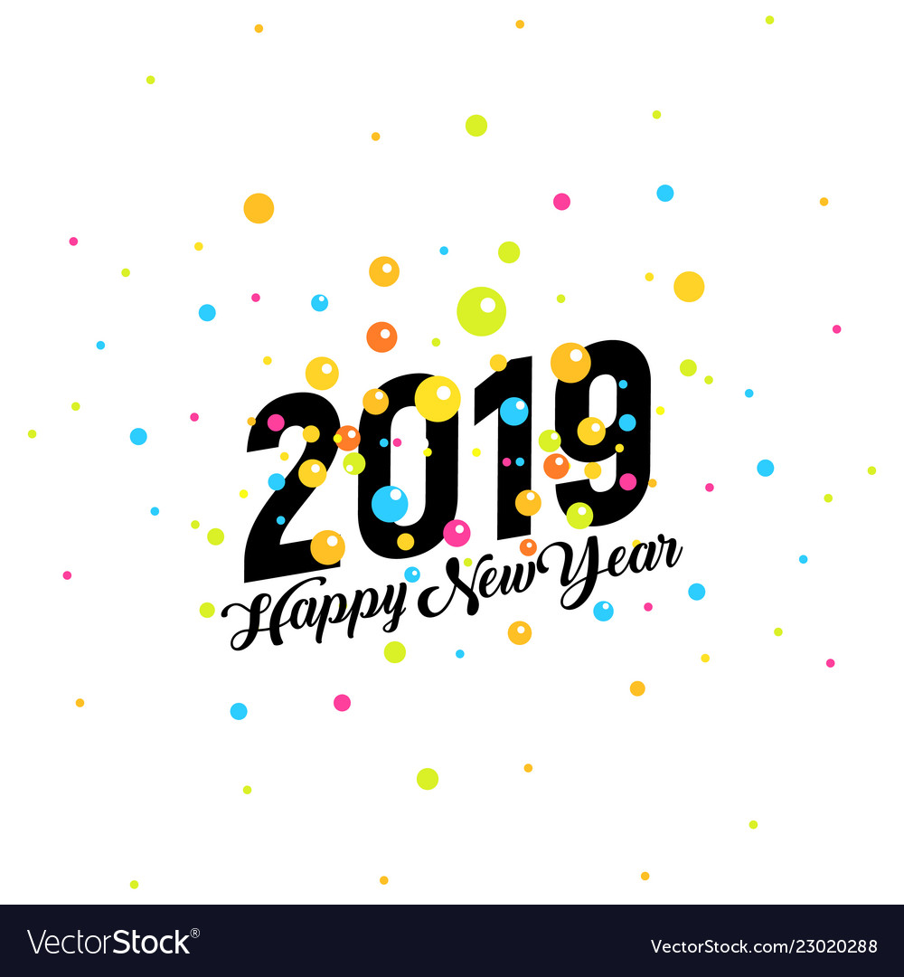 2019 happy new year banner colorful