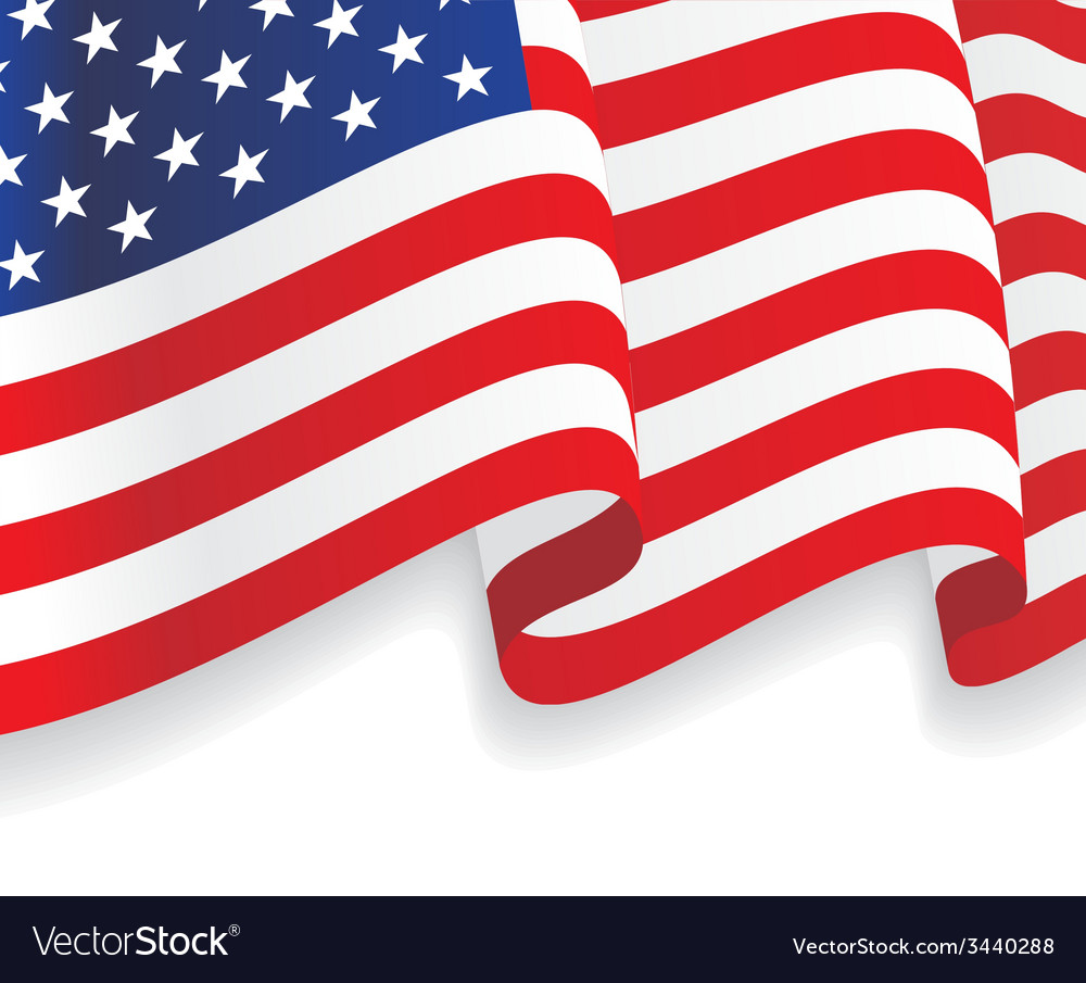 background with waving american flag royalty free vector