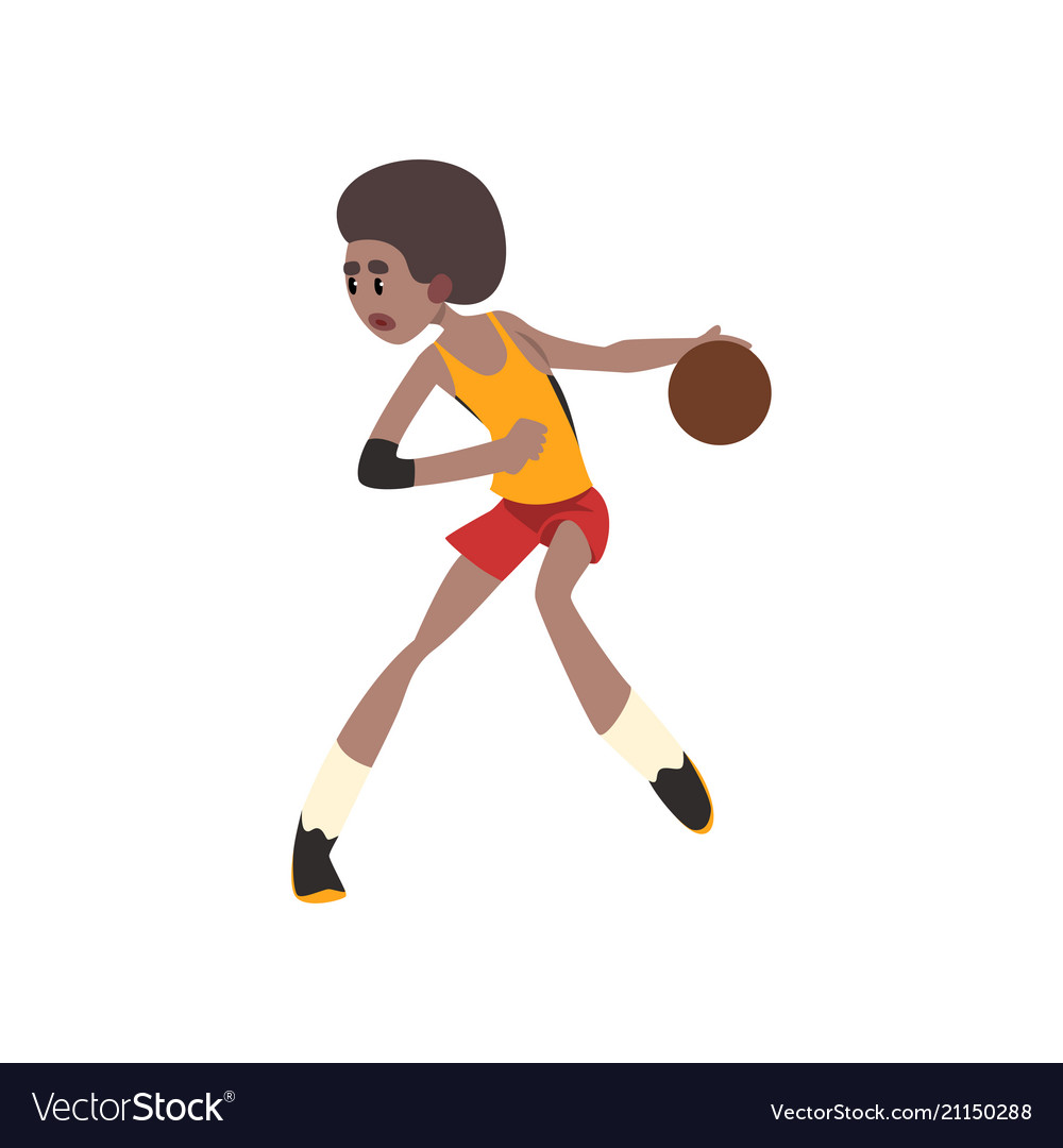 Basketball player african american athlete in