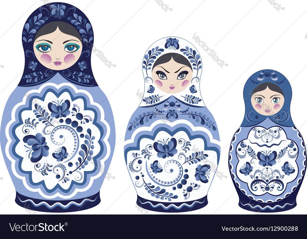 Blue Matryoshka Doll
