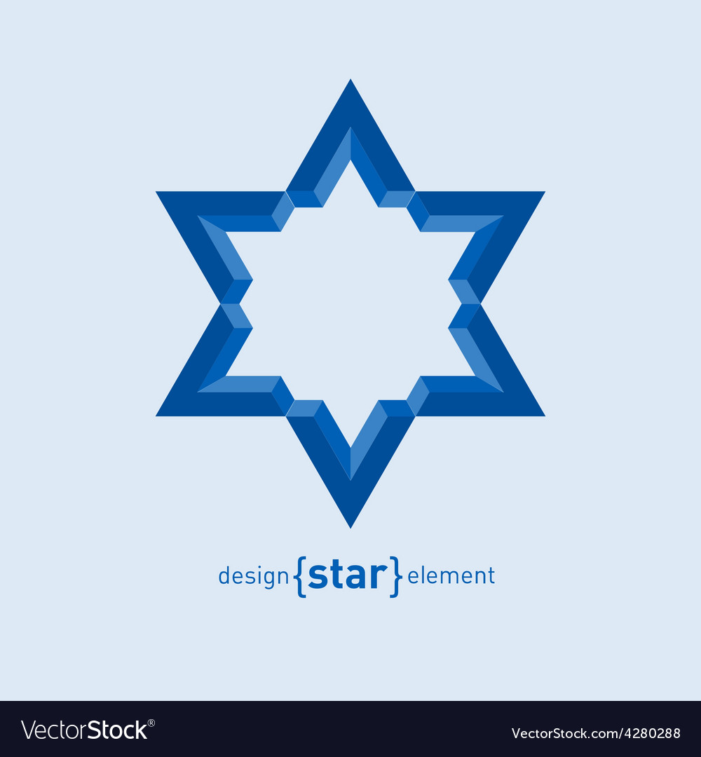 David Star abstract design element vector image