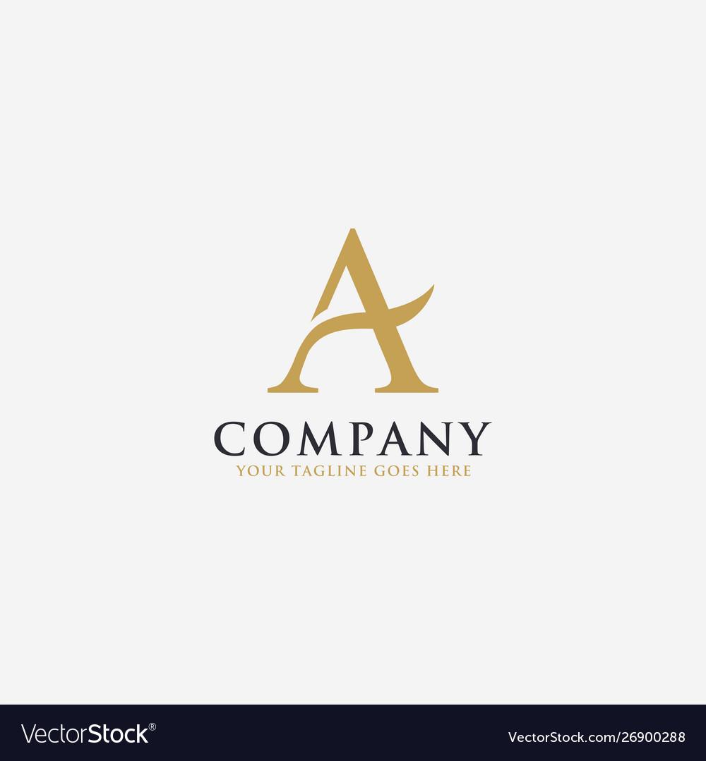 Elegant letter a logo icon