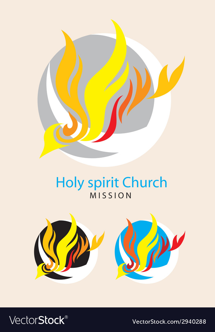 Holy spirit mission vector image