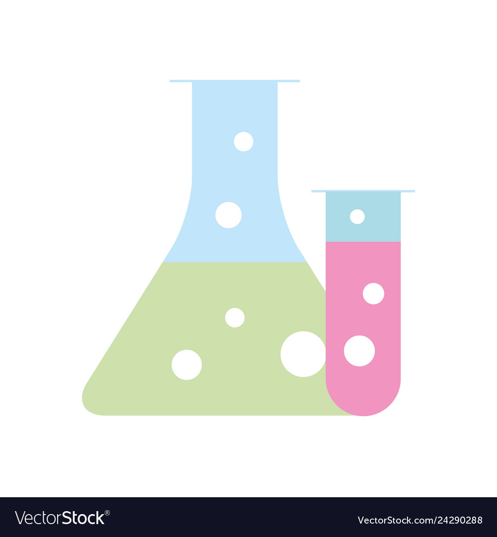 Science laboratory test tube beaker flask