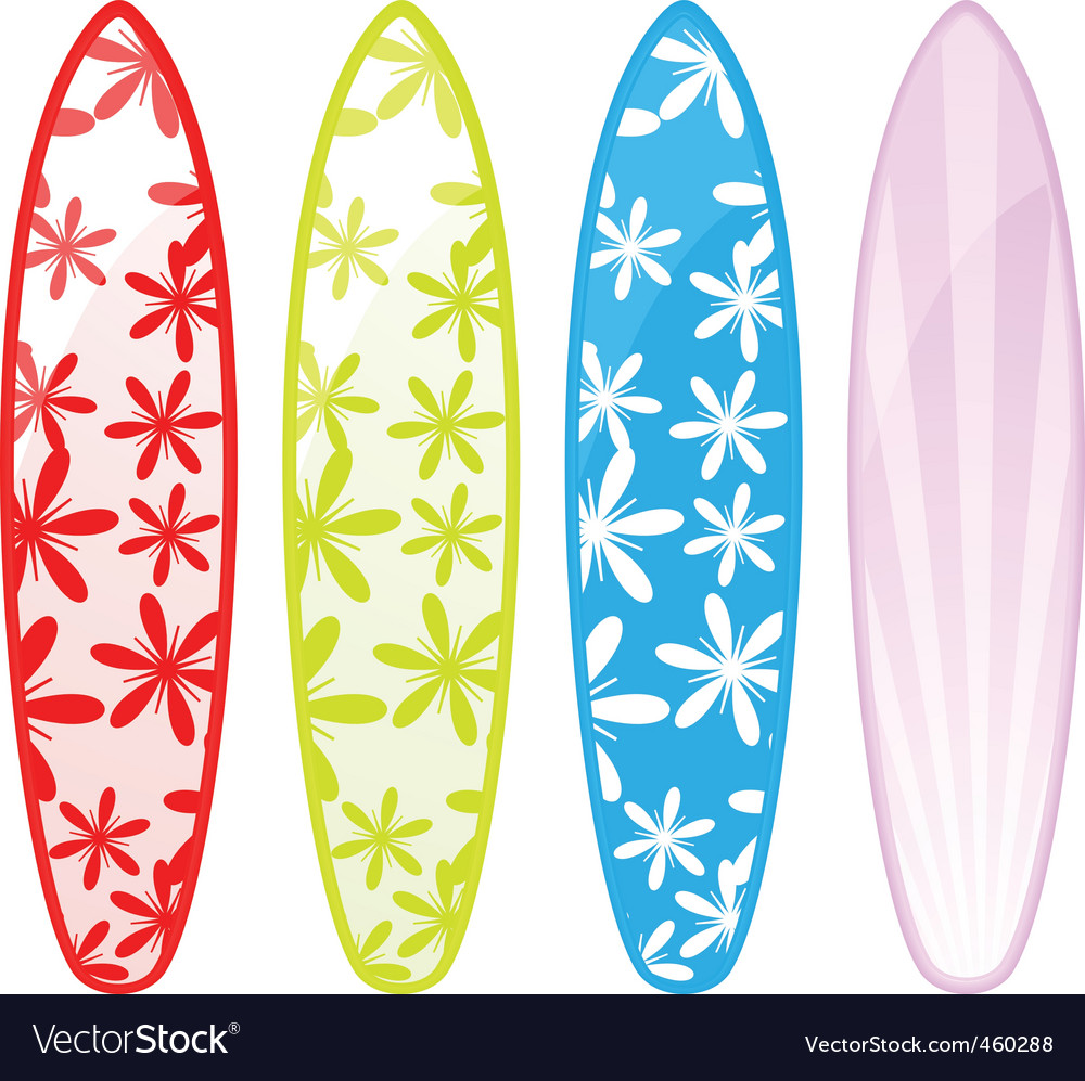 Surfboards Royalty Free Vector Image Vectorstock
