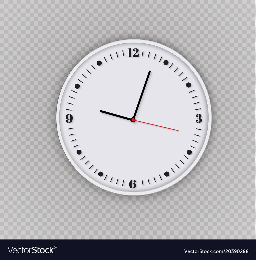 Wall Clock Office Template Design In Vector Image