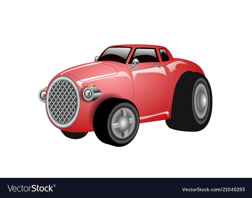 A shiny and polished cartoon red car