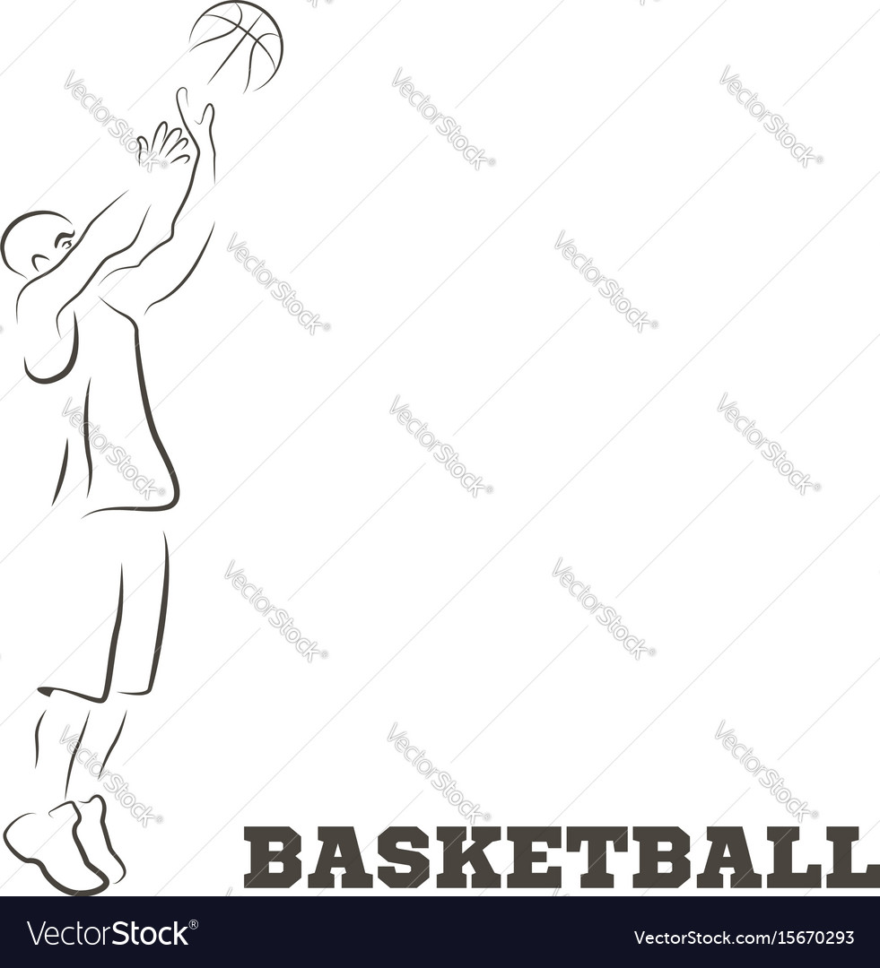 Abstract basketball and streetball poster vector image