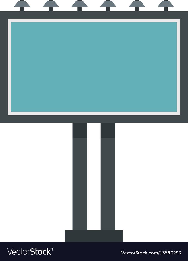 Advertising billboard icon flat style