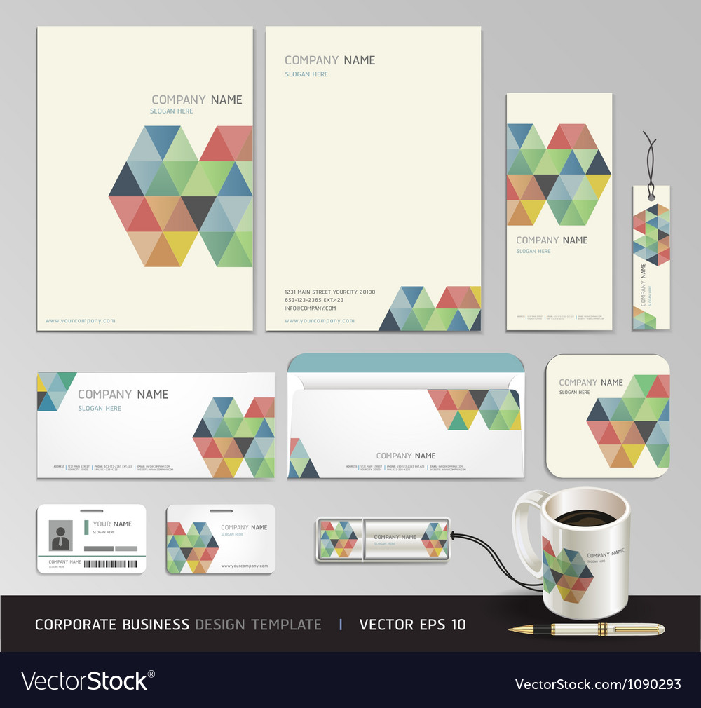 corporate identity business set design royalty free vector