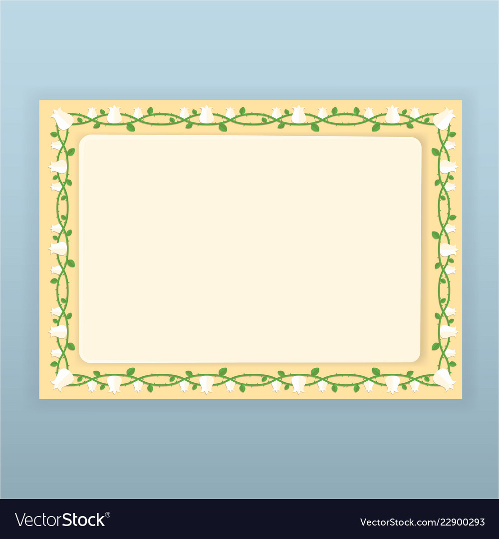 Floral borders page template for web and print