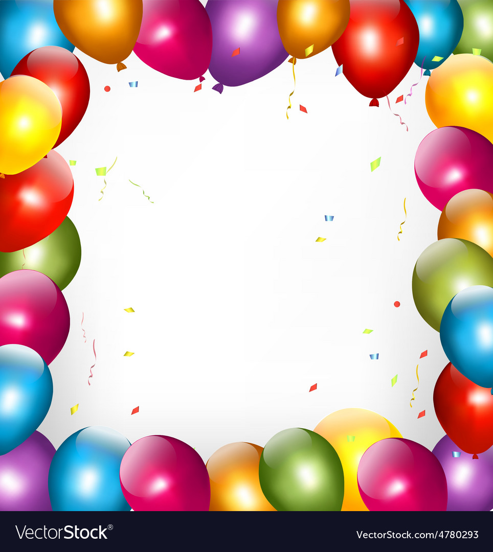 Holiday background with colorful balloons