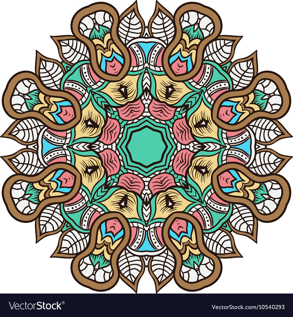 Mandala background henna natural colors
