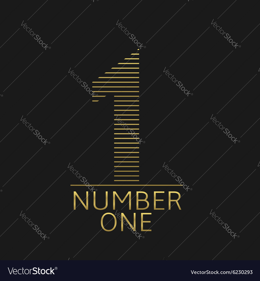 Number one vector image