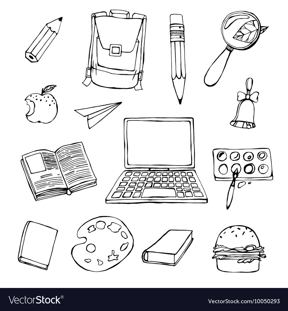 School Objects vector image