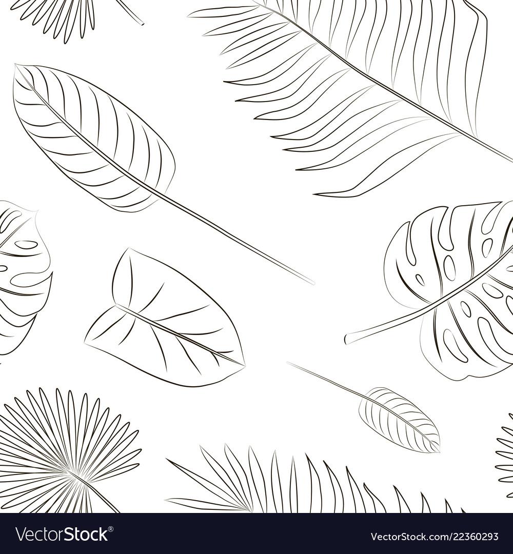 Tropical leaves set pattern