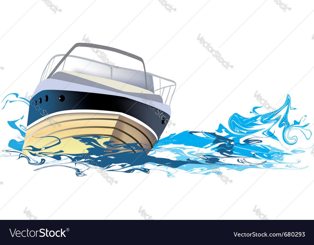Yacht at sea vector image