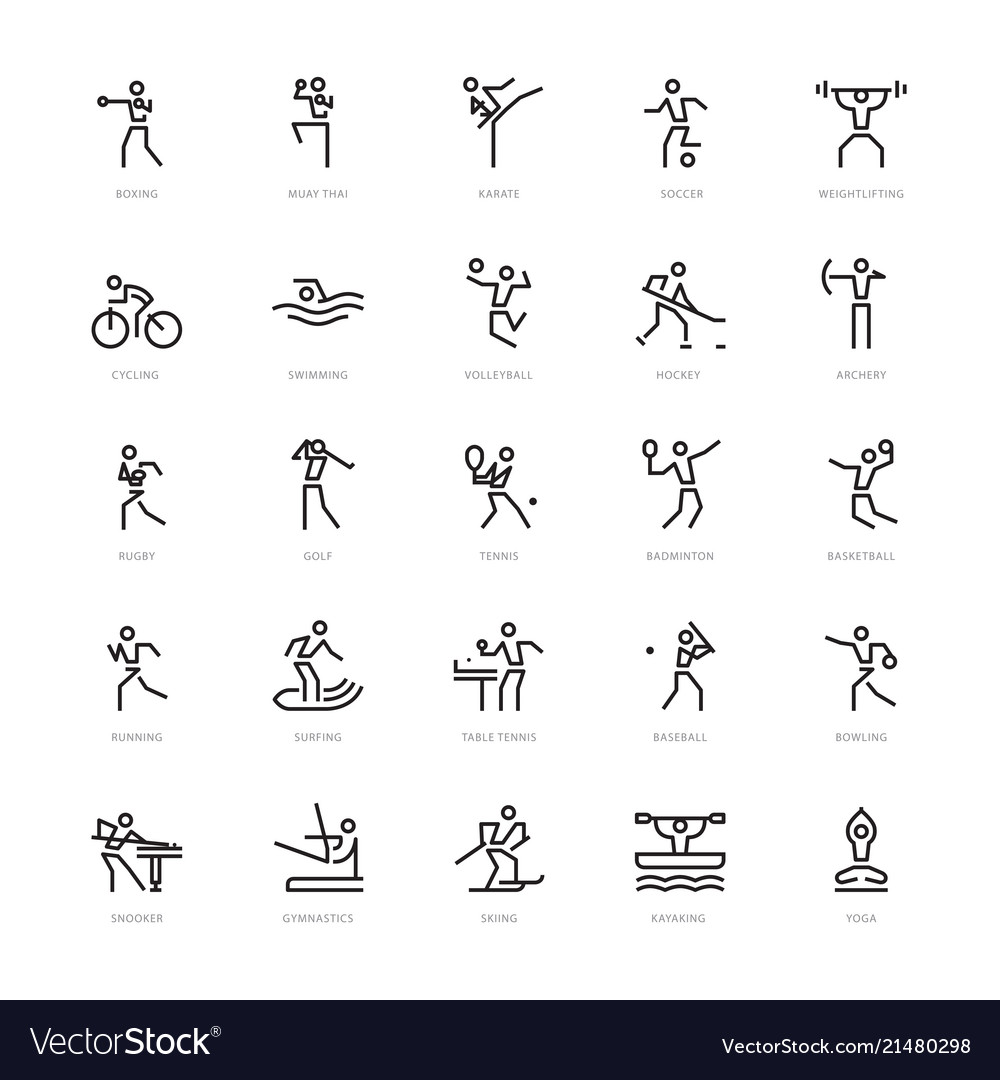 25 sport icons