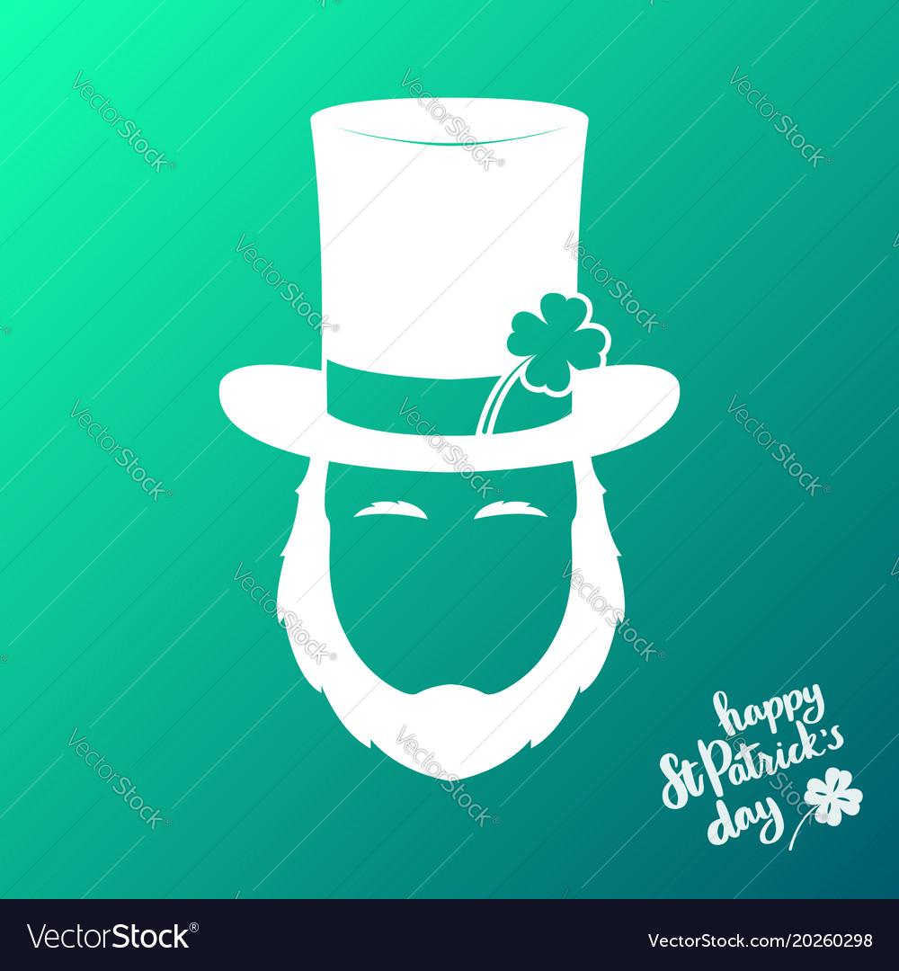 Avatar of silhouette irishman happy st patricks