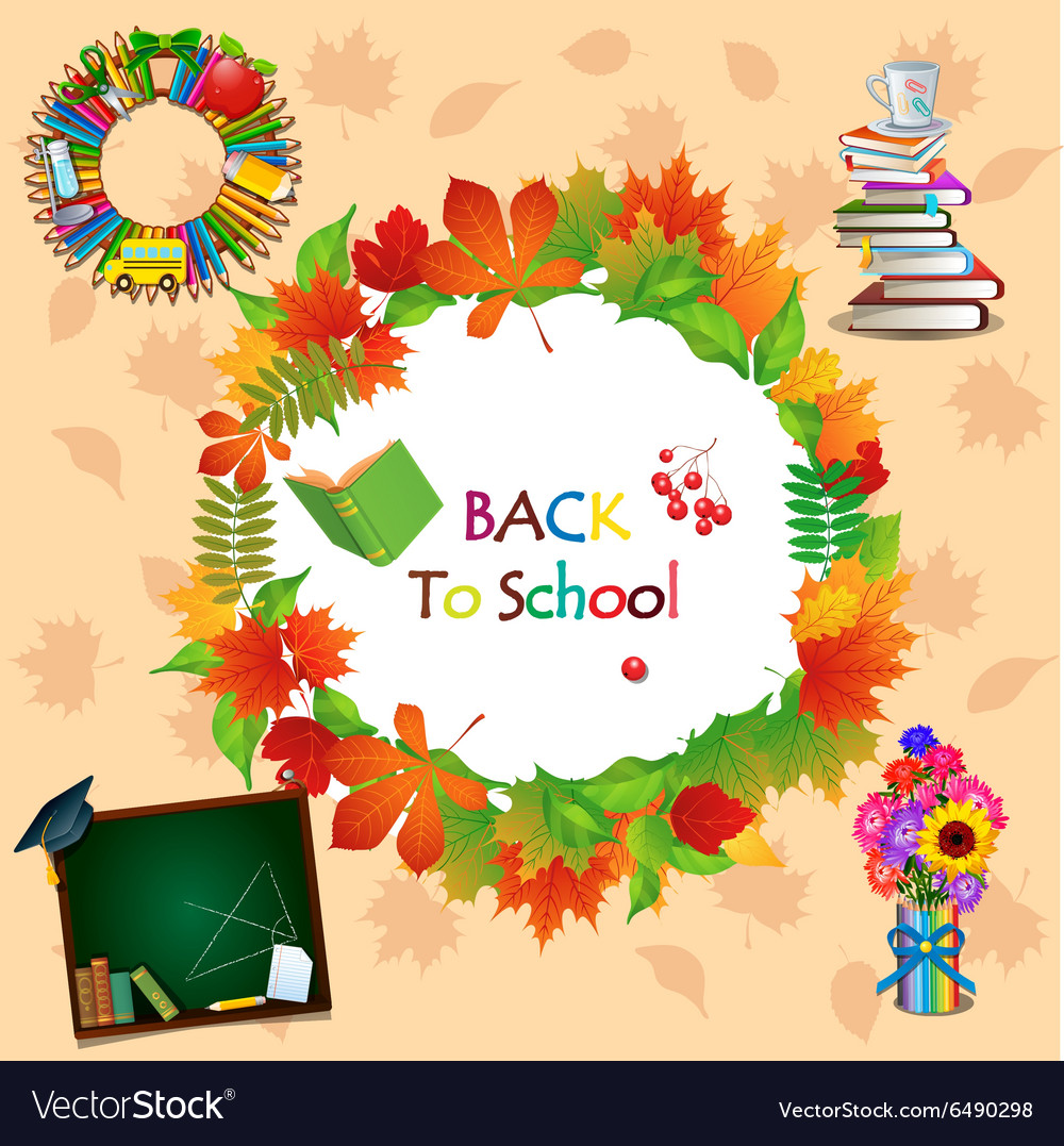 Back to school image with different objects