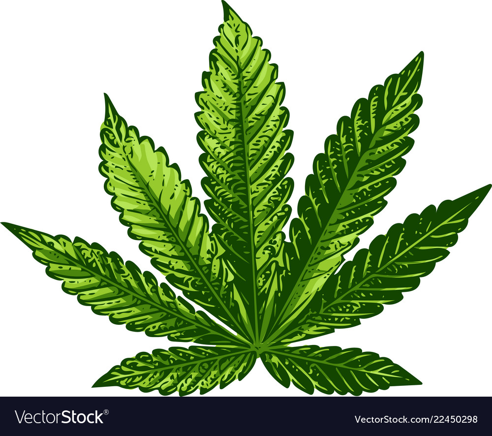 Cannabis sign dark green