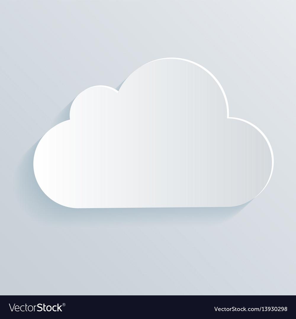Cloud white icon symbol