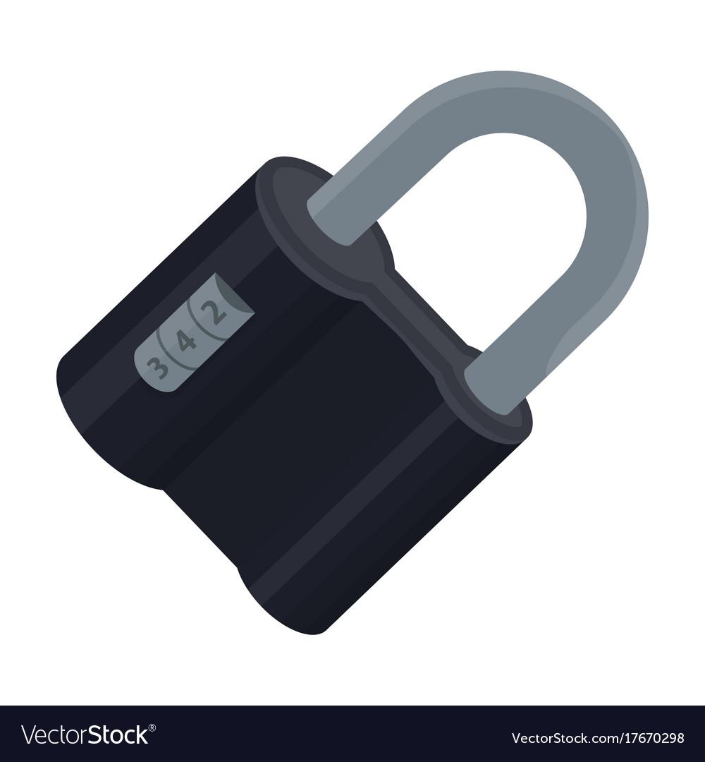 Door Lock Code Lock Single Icon In Cartoon Style Vector Image