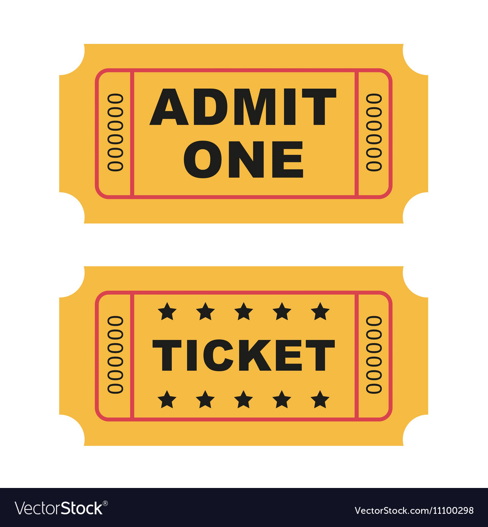 Flat Design Vintage Cinema Tickets Royalty Free Vector Image