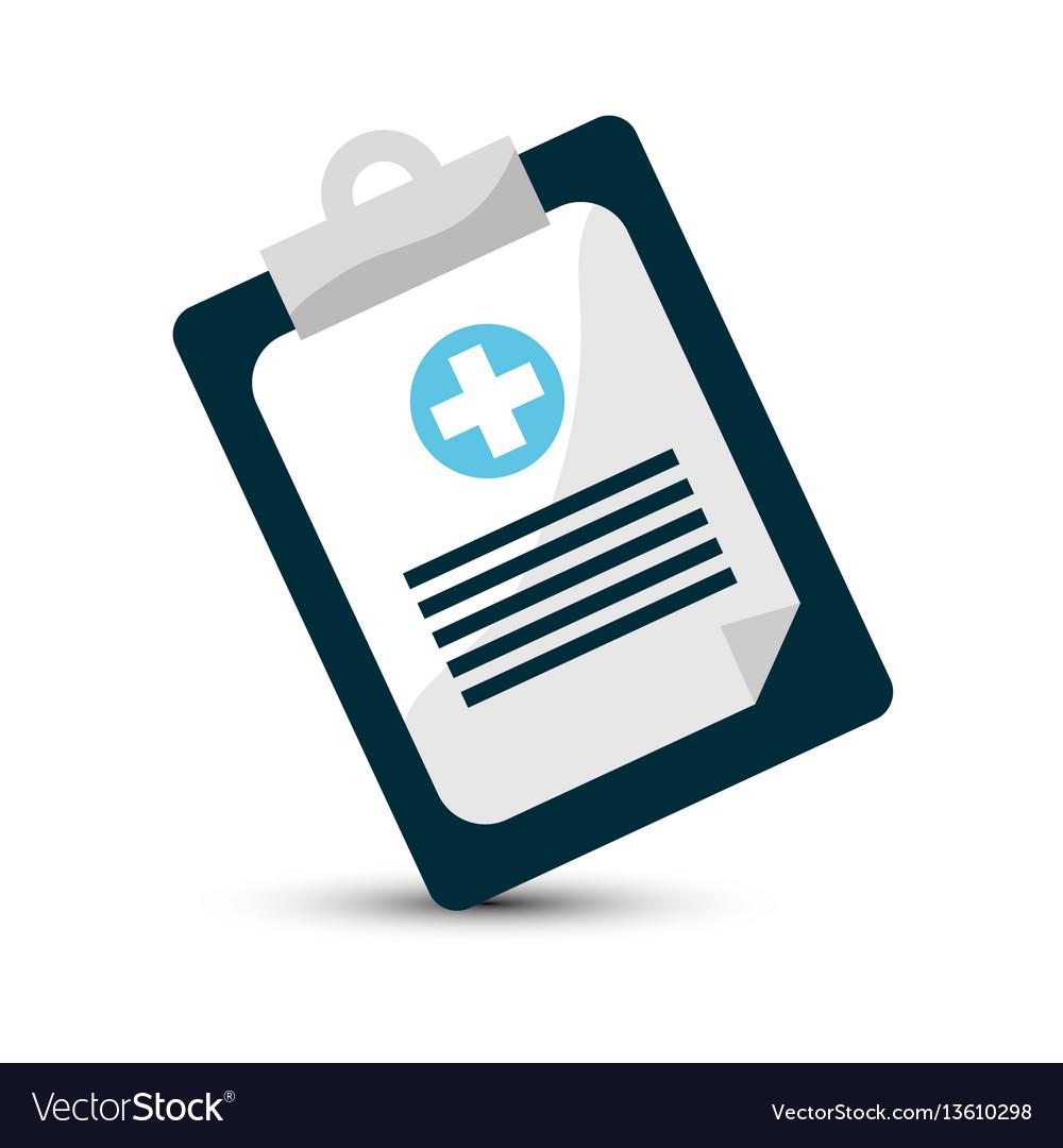 Hospital prescription pad icon