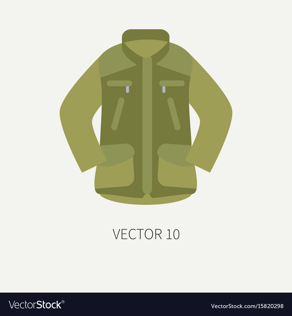 Line tile color hunt and camping icon khaki vector image