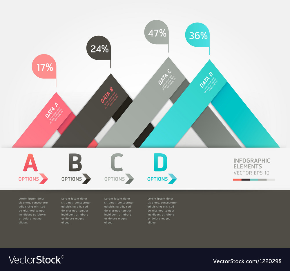 Modern infographics origami style