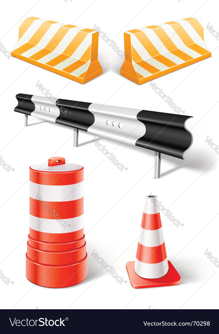 Road repair or construction objects