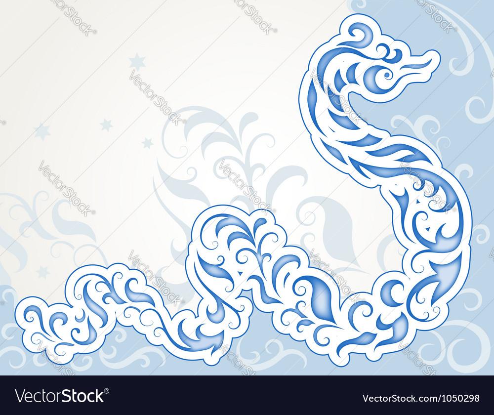 Swirly snake vector image