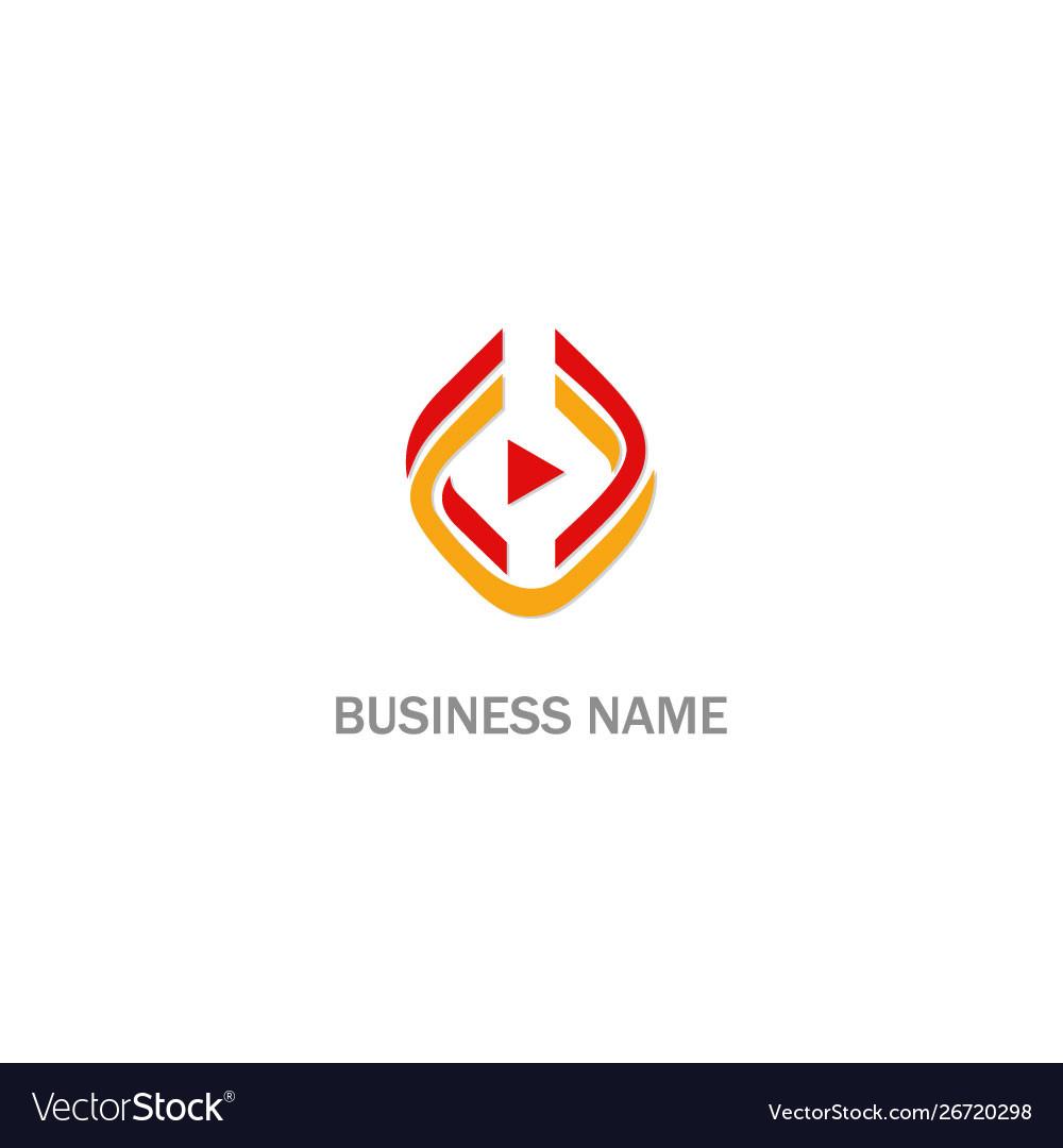 Triangle play design logo