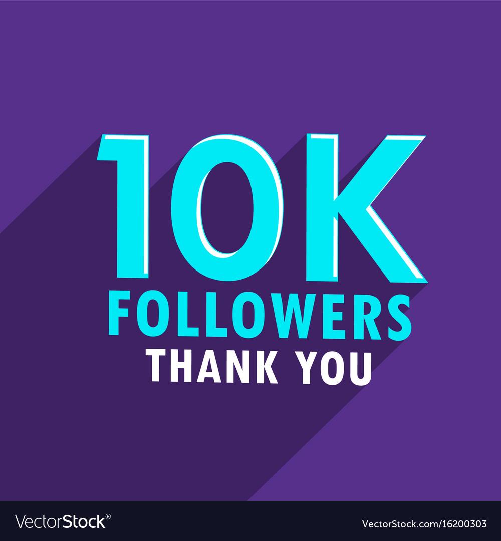 10000 followers sucess social media template