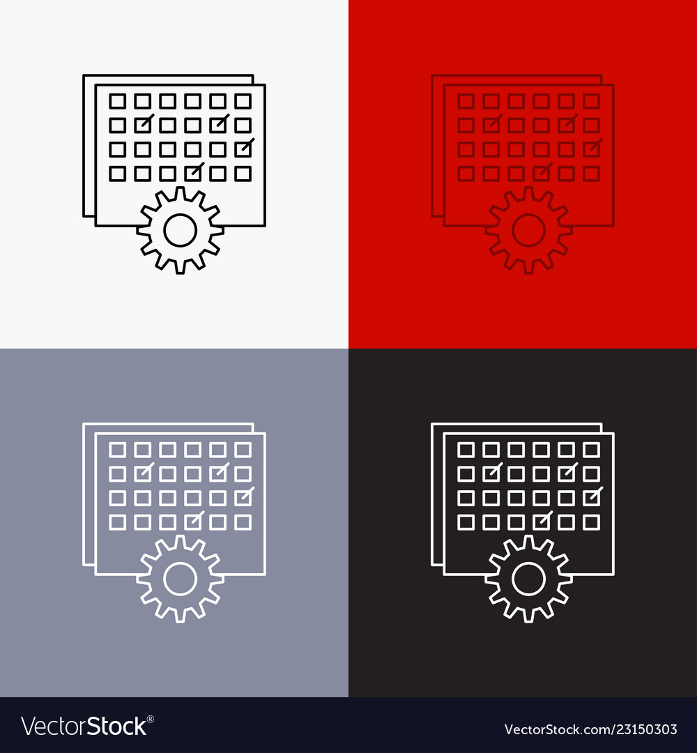event management processing schedule timing icon vector image