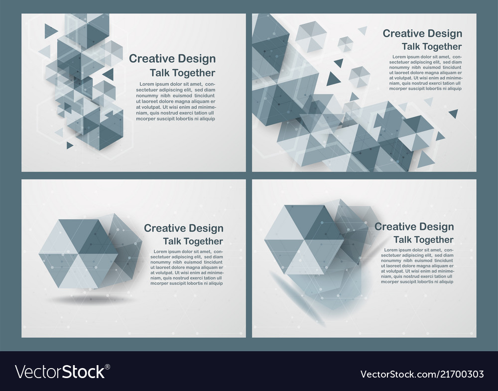 Hexagon on white and grey background with copy