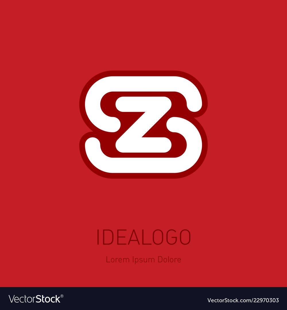 S and z initial logo sz - design element or icon