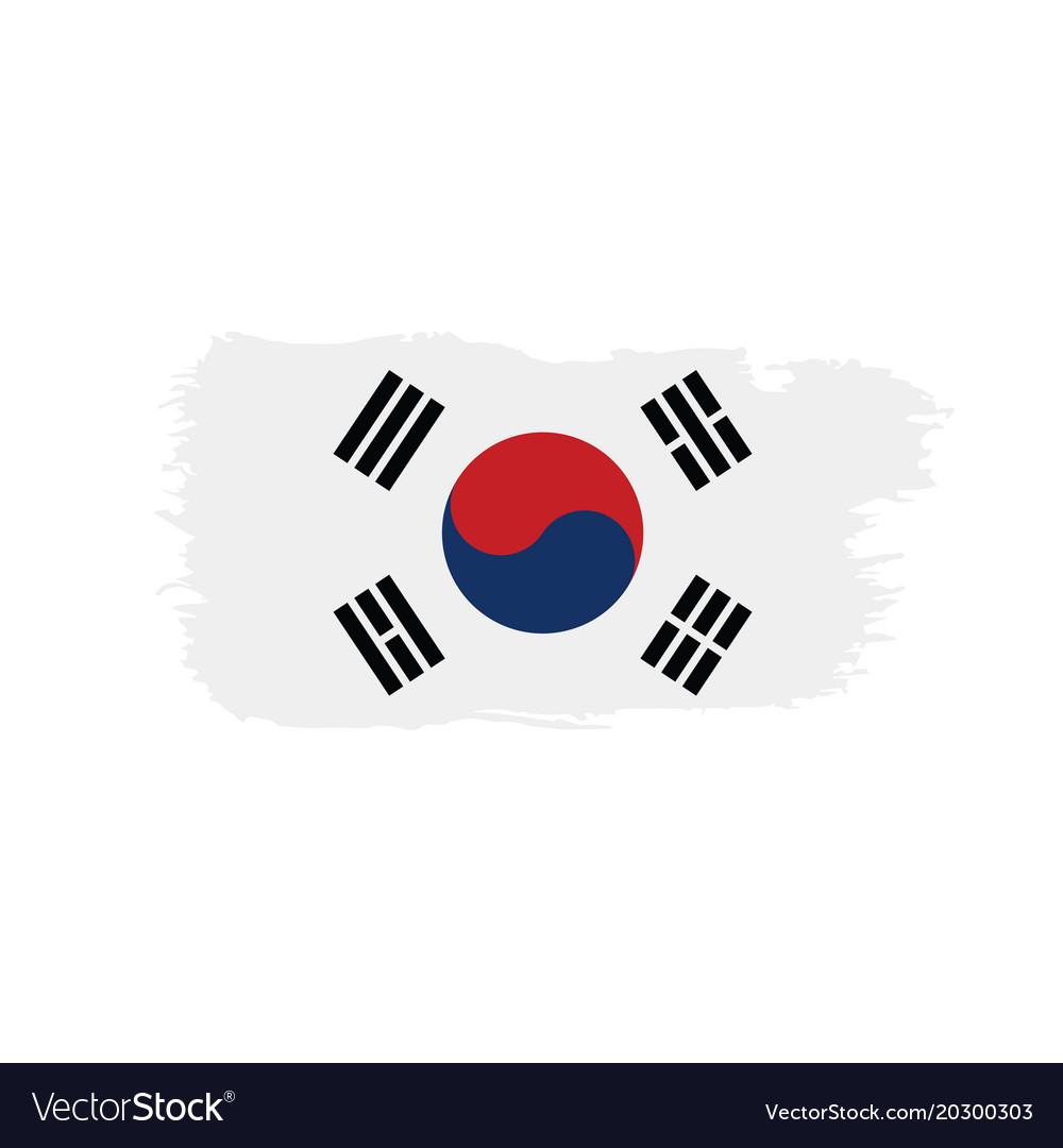 South korean flag royalty free vector image vectorstock - Picture of a korean flag ...