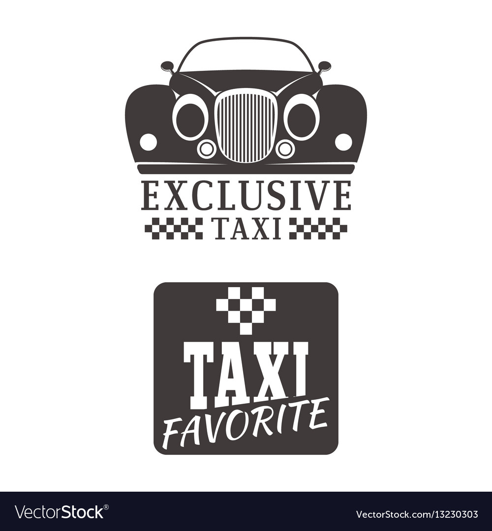 Taxi badge car service business sign template vector image cheaphphosting Images
