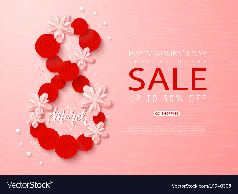 8 march - happy women s day sale banner beautiful
