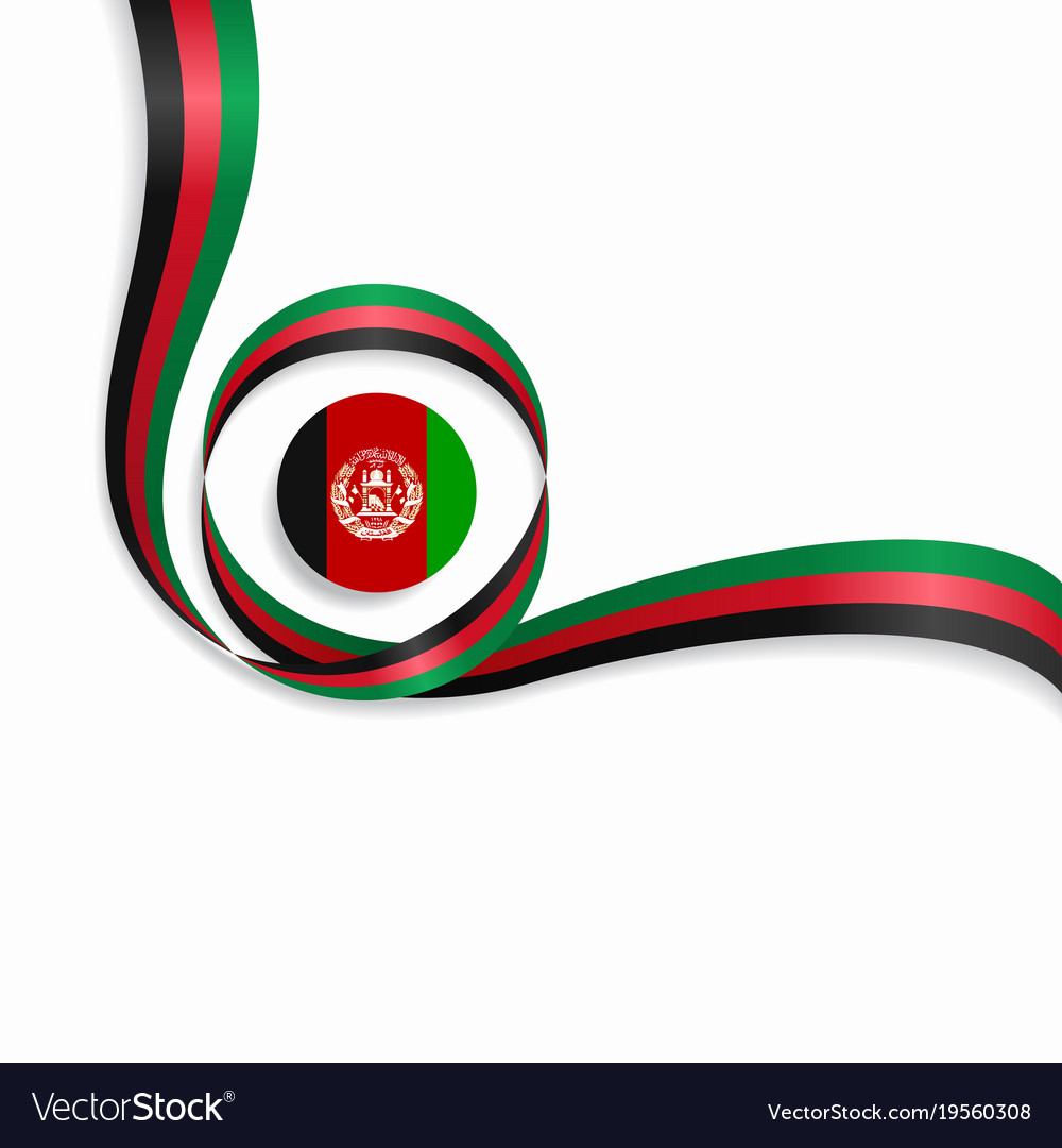Afghanistan Wavy Flag Background Royalty Free Vector Image