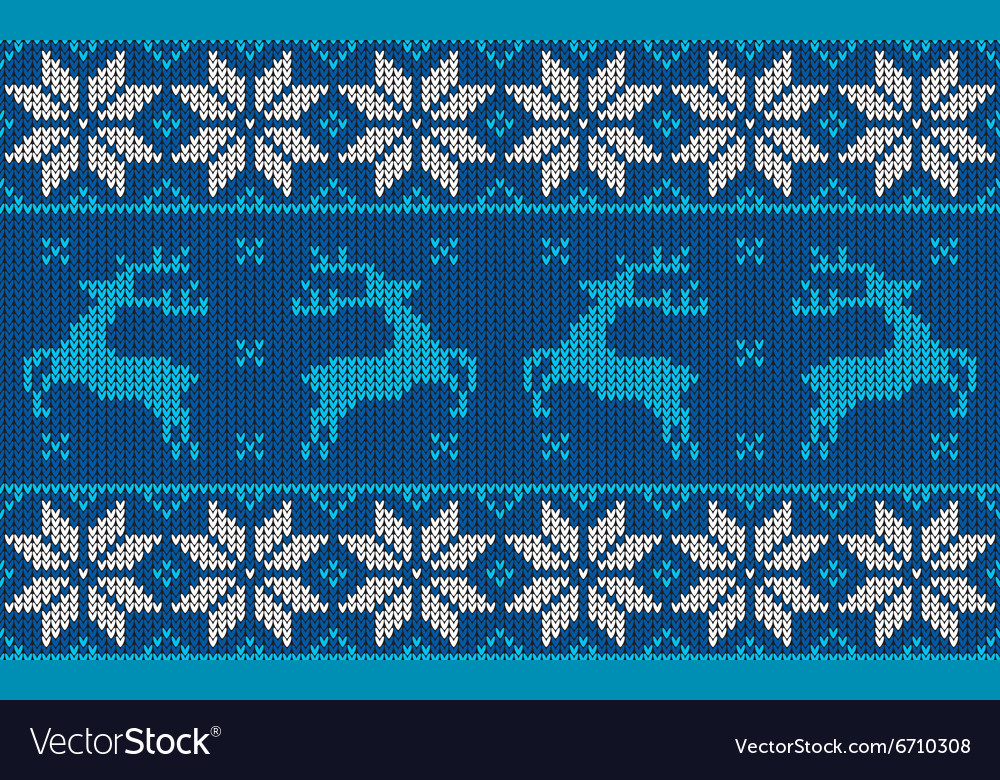 Blue and white christmas jumper