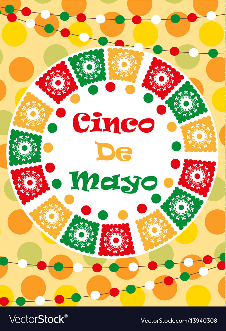 Cinco de mayo greeting card template for flyer